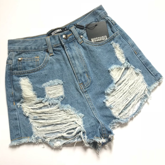 87ac728d60 Missguided Shorts   High Waisted Distressed   Poshmark